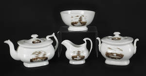 Philadelphia Tucker fourpiece tea service ca 1825