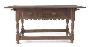 Pennsylvania Queen Anne walnut tavern table ca 1745
