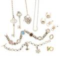 12 pieces designer sterling or gold jewelry
