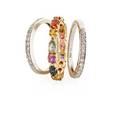 Three diamond or gemset gold bands