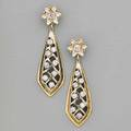 Diamond  yellow gold pendant earrings
