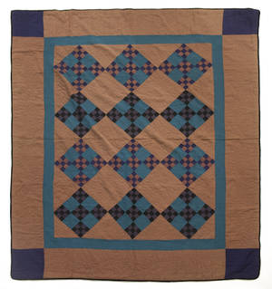 Mifflin County Pennsylvania Amish pieced double nine patch quilt early 20th c