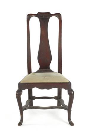 New England Queen Anne walnut side chair ca 1760