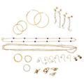 Diamond pearl or hardstone gold jewelry