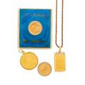 Yellow gold coin jewelry  loose coins