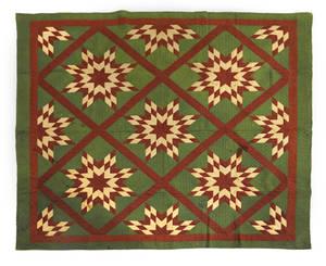 Pennsylvania pieced star in diamond quilt