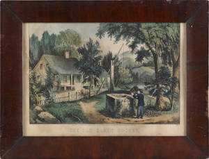 Six Currier  Ives lithographs