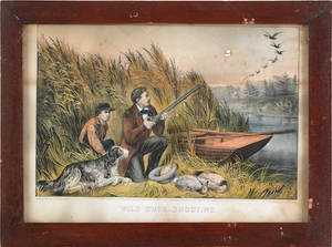 Three Currier  Ives lithographs