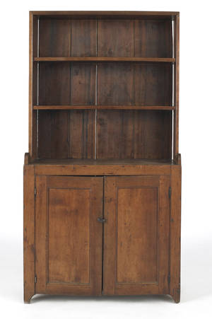 Pennsylvania walnut stepback cupboard ca 1800