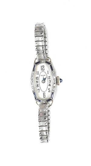 Ladies Bulova wrist watch with platinum and white gold case