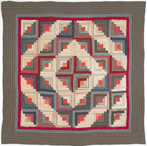 Pennsylvania log cabin quilt 19th c