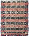 Pennsylvania threecolor jacquard woven coverlet