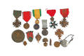 Group of fifteen French WWI and WWII medals