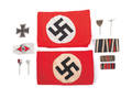 Four German WWI and WWII stick pins