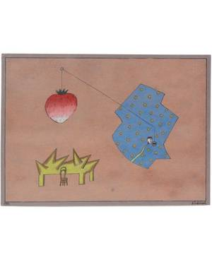 VICTOR PIVOVAROV RUSSIAN B 1937 Untitled Conceptual Composition with a Strawberry
