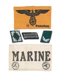 Nazi collar tabs and arm bands