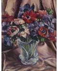 NATALIA SERGEEVNA GONCHAROVA RUSSIAN 18811962 Still Life with Vase of Flowers