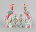 Pair of Chinese porcelain phoenix