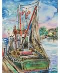 DAVID BURLIUK RUSSIAN 18821967 Fishing Boat