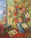 DAVID BURLIUK RUSSIAN 18821967 Flowers by the Sea