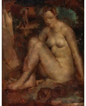 GREGORY GLUCKMANN RUSSIAN 18981973 Seated Nude