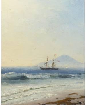 IVAN KONSTANTINOVICH AIVAZOVSKY RUSSIAN 18171900 Ship at Sea off the Island of Capri