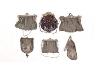 Collection of Six Early 20th C Coin Purses