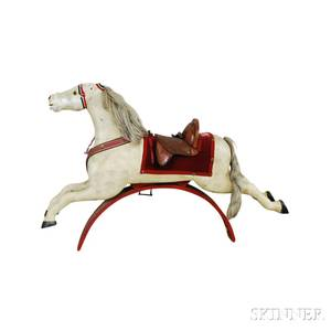 Carved and Painted Wood Hobby Horse