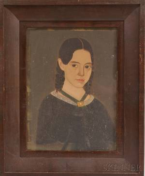PriorHamblin School 19th Century Portrait of a Young Lady