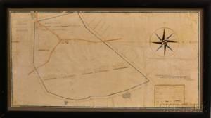 Framed Rhode Island Pen and Ink Survey