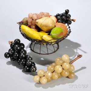 Collection of Stone Fruit in a Wirework Basket