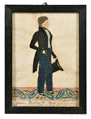 Joseph Davis act MaineNew Hampshire 18111865 Portrait of James Butler