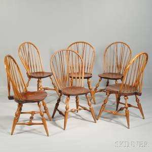 Set of Six Bowback Windsor Side Chairs