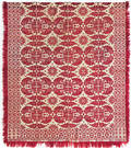 Pennsylvania red and white jacquard coverlet