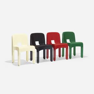 Joe Colombo   Universale chairs model 4867 set of four