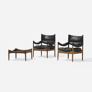 Kristian Vedel   pair of Modus lounge chairs and occasional table