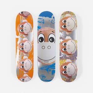 Jeff Koons   Monkey Train skateboard decks set of three