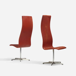 Arne Jacobsen   Oxford chairs model 7403 pair