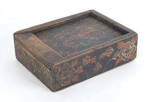 Pennsylvania painted slide lid box ca 1800