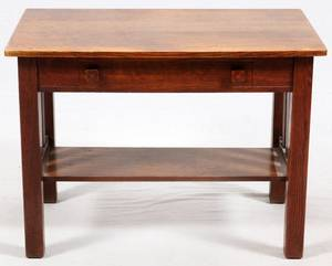 CADILLAC DESK CO MISSION OAK DESK