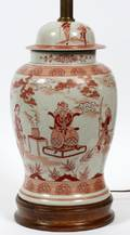 CHINESE PORCELAIN GINGER JAR TABLE LAMP