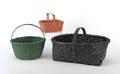 Three painted baskets