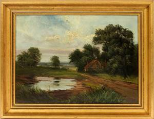 R C SNELL OIL ON CANVAS C 1900