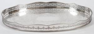 ENGLISH SILVERPLATE TRAY