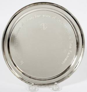 TIFFANY  CO STERLING PRESENTATION TRAY