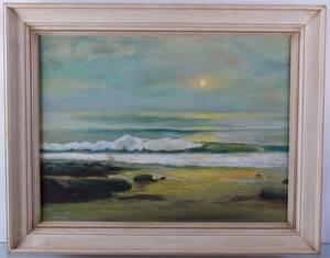 MP Cooke Beach Landscape Oil on Canvas