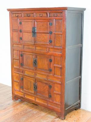 Chinese Elm Wood Chest