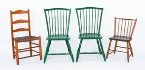 Pair of rodback windsor chairs