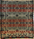 Berks County Pennsylvania red blue and green jacquard coverlet ca 1840
