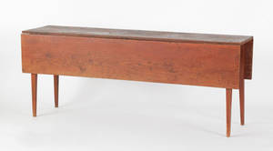 New English pine harvest table ca 1840